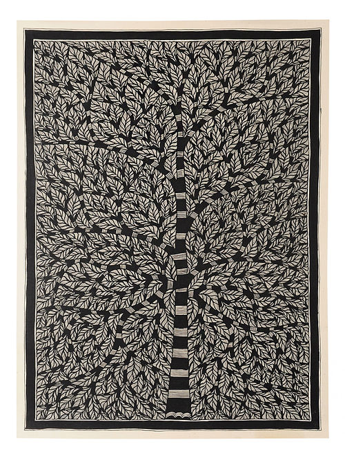 Tree of Life Madhubani Painting (30in x 22in)