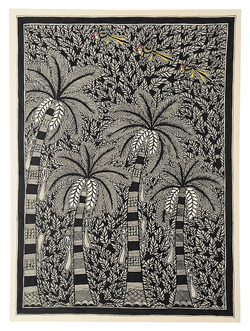 Banana Tree Madhubani Painting (30in x 22in)