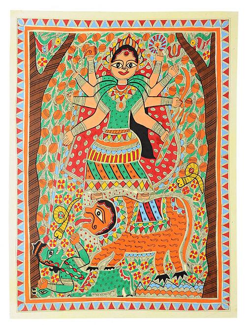 Durga Jee Madhubani Painting (30in x 22in)