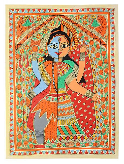 Ardhnareshar Madhubani Painting (30in x 22in)
