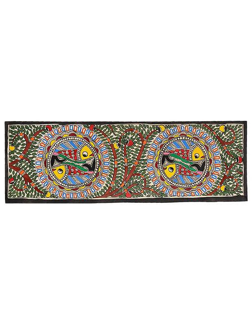 Fish Madhubani Painting (7.5in x 22in)