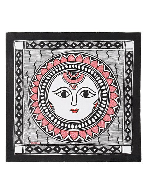 Sun God Madhubani Painting (7.2in x 7.5in)