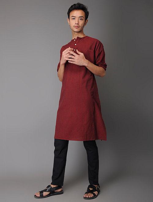 Black Tie-Up Waist Handloom Cotton Pyjama