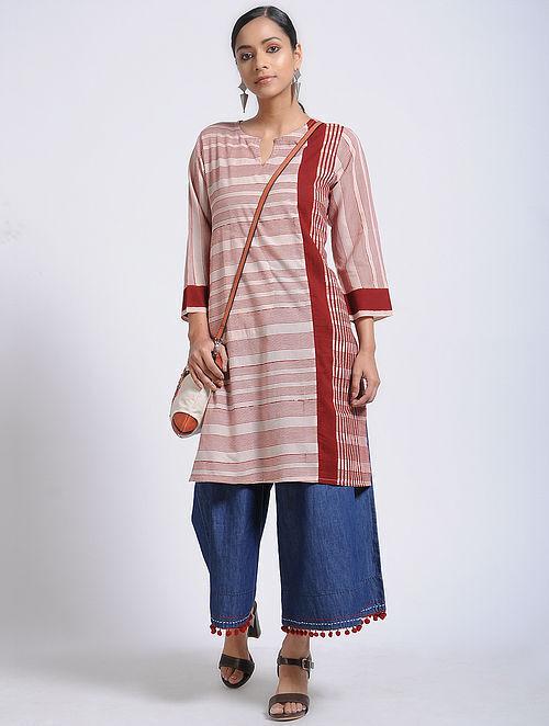 Ivory-Madder Bagh-Printed Cotton Kurta with Pocket