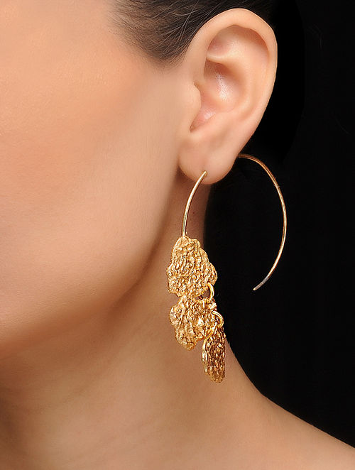 Classic Gold Tone Brass Hoops