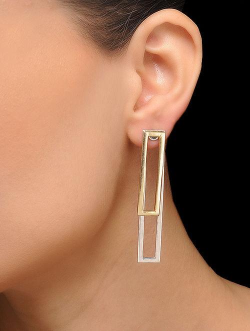 Classic Dual Tone Brass Earrings
