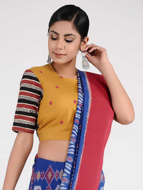 b7a719c8d54f8 Buy Mustard-Red Block-printed Cotton Blouse Online at Jaypore.com