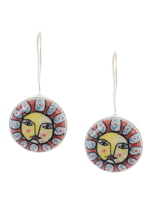 Multicolored Hand-painted Ceramic Earrings