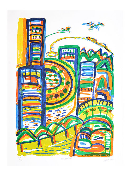 Suresh Sheths Limited Edition My Dream Serigraph On Paper (30in x 22in)