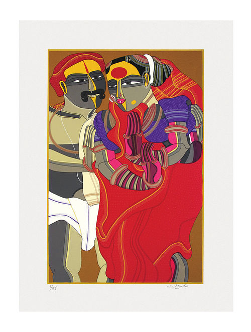 Thota Vaikuntams Limited Edition Untitled Serigraph On Paper (30in x 22in)