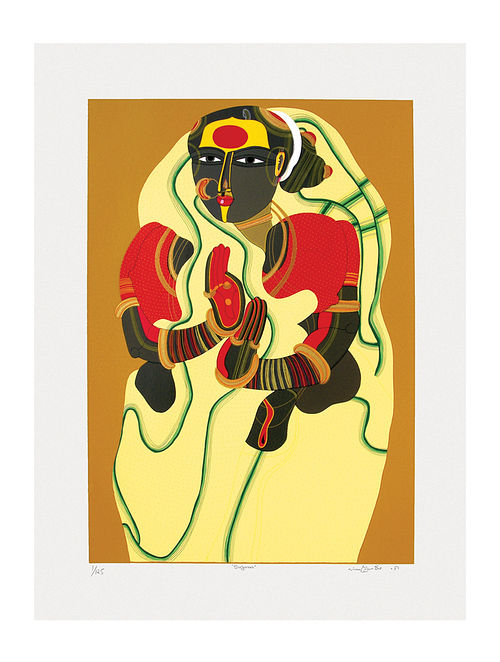 Thota Vaikuntams Limited Edition Sugana Serigraph On Paper (40in x 30in)