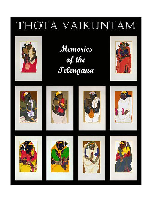 Thota Vaikuntams Limited Edition Memories of Telangana Serigraph On Paper (20in x 14in)