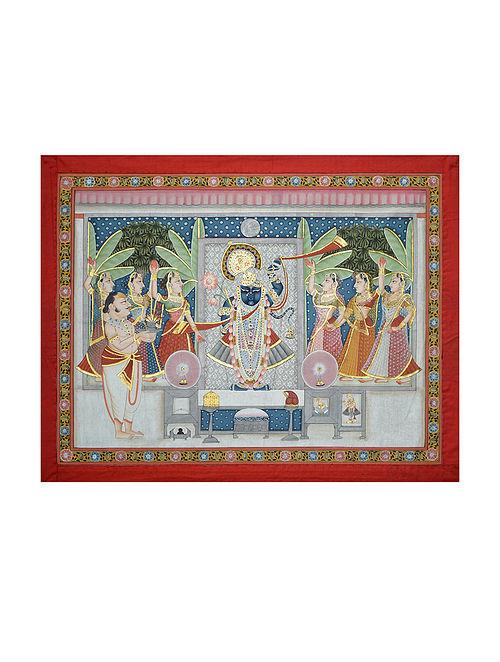 Shreenathji Pichwai Painting (24in x 30in)