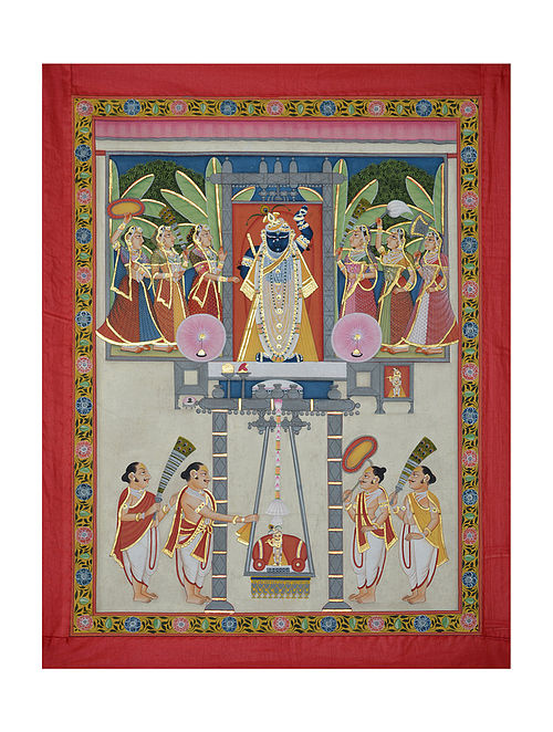 Shreenathji Pichwai Painting (32.5in x 25in)