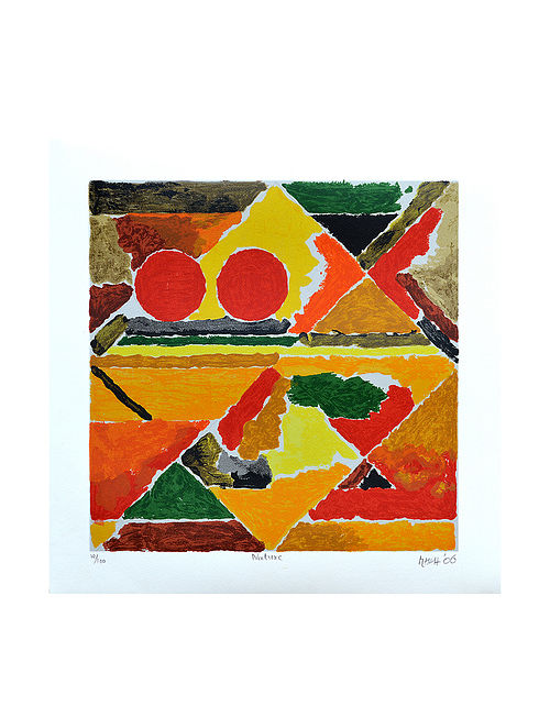 S H Razas Nature Serigraph on Paper (20in x 20in)