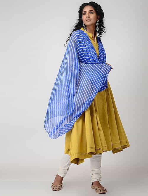 Blue Leheriya Chiffon Dupatta