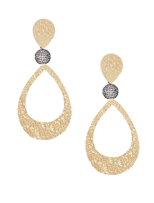 251f24dcb6849 Buy Gold Plated Zabel Large Gold Drop Earrings Online at Jaypore.com