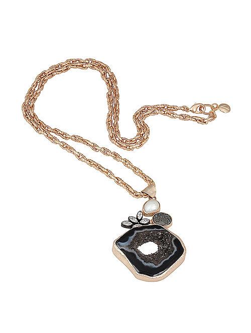 ba07de3a7 Buy Black Agate and Pearl Noir Long Necklace Online at Jaypore.com