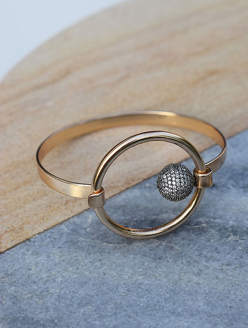 Gold-Silver Corona Bianca Bangle