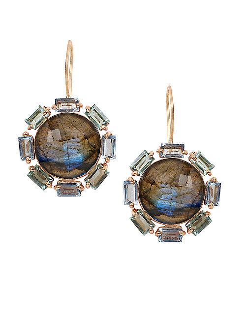 Blue Orb Laurel Drop Earrings