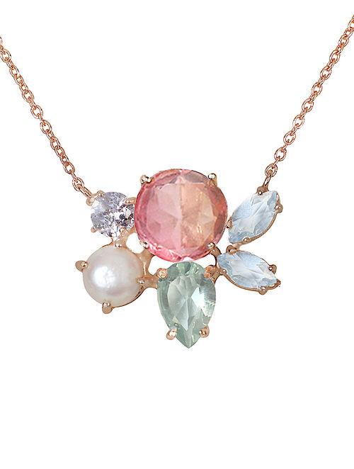 Pink-Blue Candy Cabana Melinda Necklace