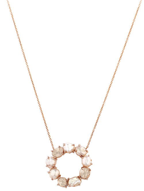 Gold Plated Aurous Pendant with Chain