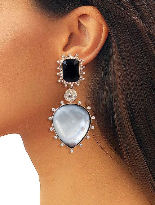 Black-White Mela Statement Earrings