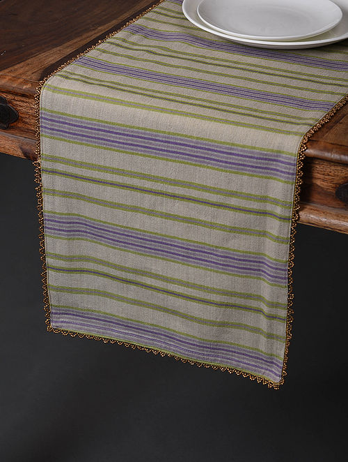 Lavender Meadows Digital Printed Cotton Table Runner (59in x 13in)