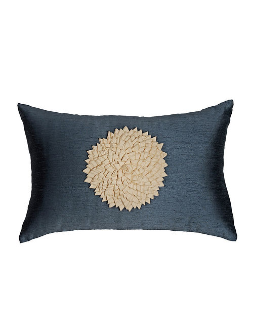 Felt Applique Viscose-Polyester Cushion Cover - 18in x 12in