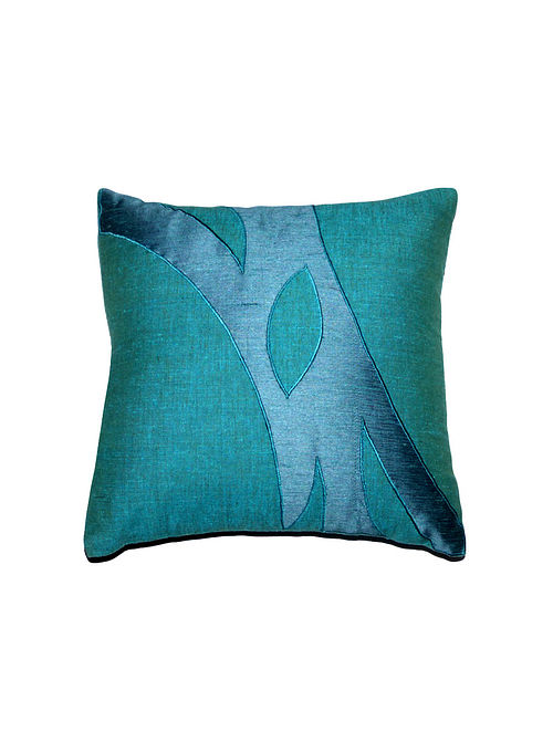 Abstract Viscose-Polyester Cushion Cover - 12in x 12in