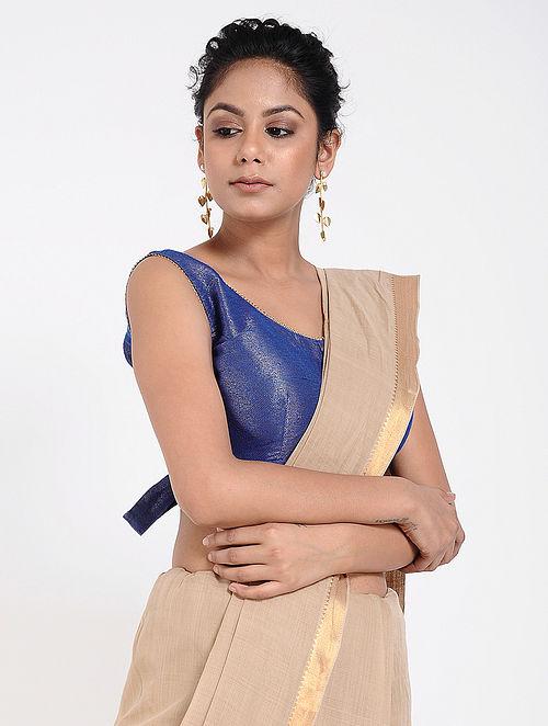 80b204f20f5fd Buy Blue Silk Blouse Online at Jaypore.com
