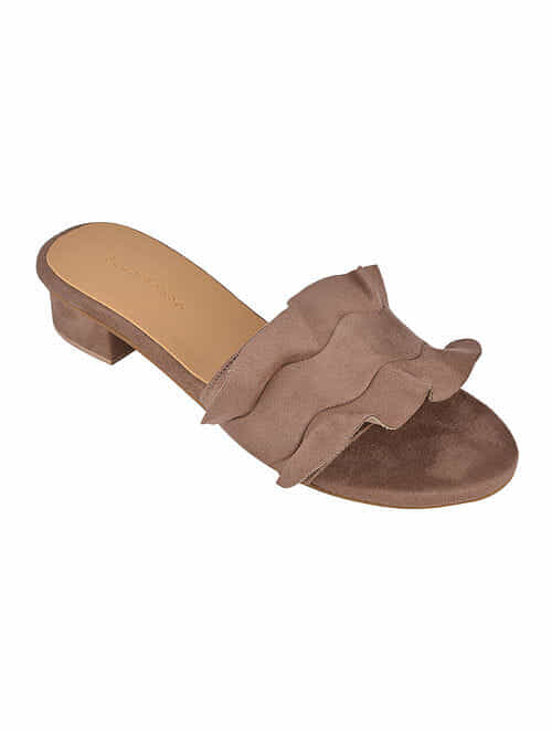 6a3270f2015 Buy Brown Handcrafted Box Heels Online at Jaypore.com