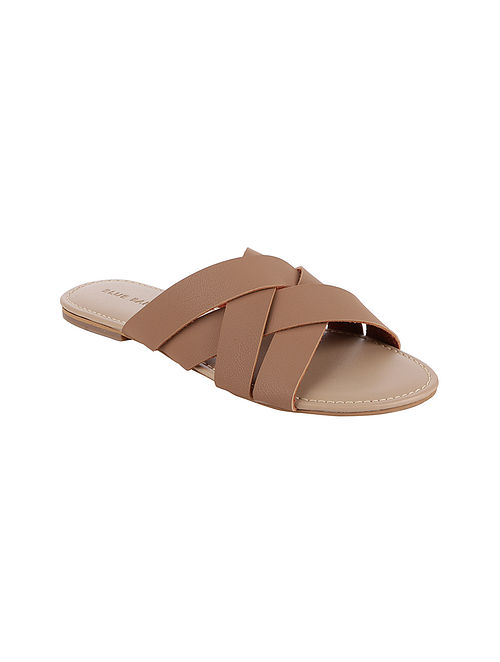 Nude Handcrafted Flats