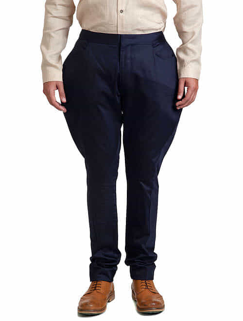 Navy Blue Jodhpur Trouser