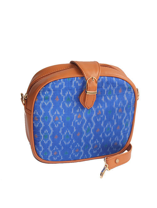 Blue-Brown Ikat Sling Bag