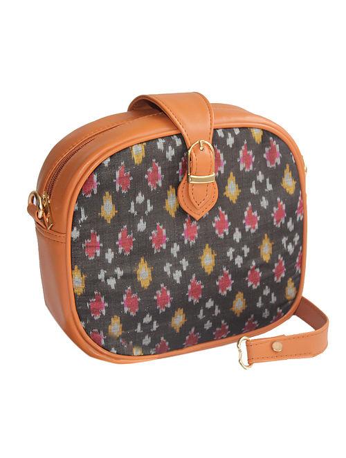 Black-Brown Ikat Sling Bag