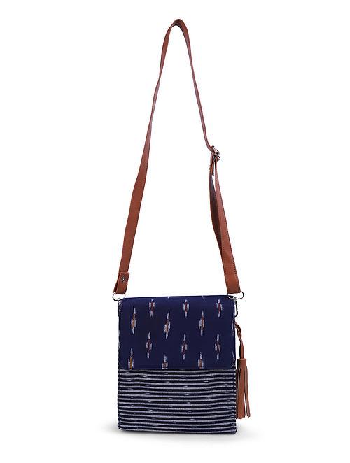Blue-Brown Ikat Sling Bag