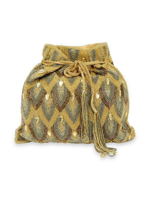 Gold Handcrafted Silk Potli