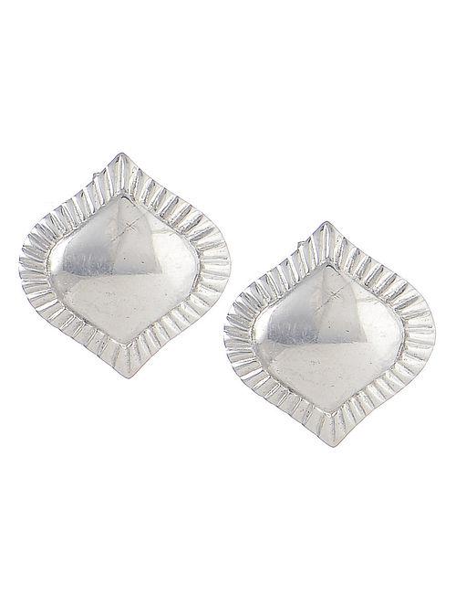 Flare Silver Stud Earrings