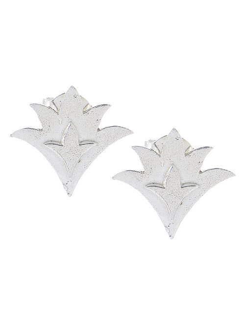 Durba Silver Stud Earrings