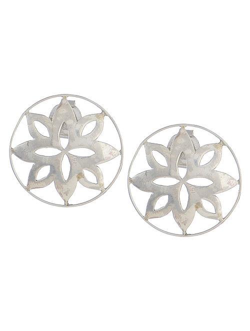 Fretwork Pangea Silver Earrings
