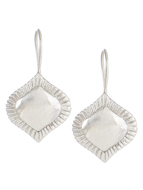Flare Silver Hook Earrings