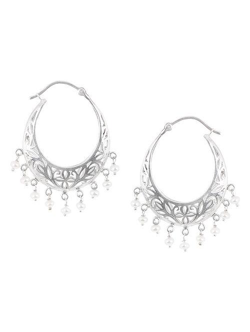Fretwork Pearl Silver Balis