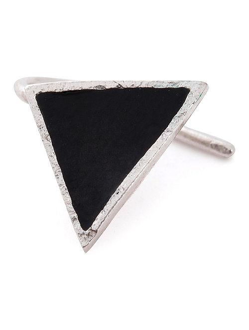Triangular Enamelled Silver Nose Clip