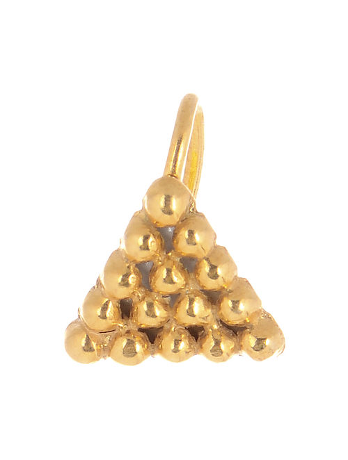 Triangular Gold-plated Silver Nose Clip