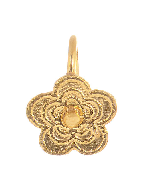 Floral Gold-plated Silver Nose clip