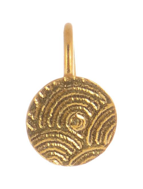 Circular Gold-plated Silver Nose Clip