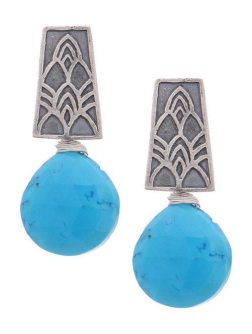 Howlite Silver Earrings
