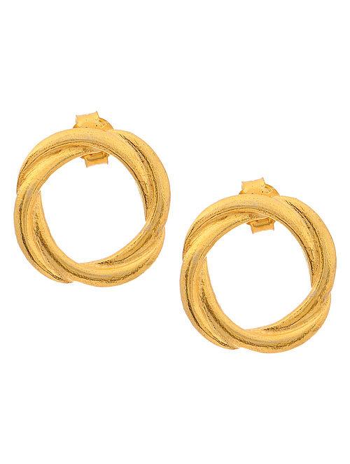 Classic Gold Tone Silver Earrings