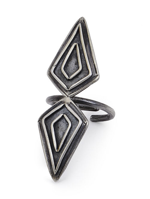 Classic Adjustable Oxidized Silver Ring